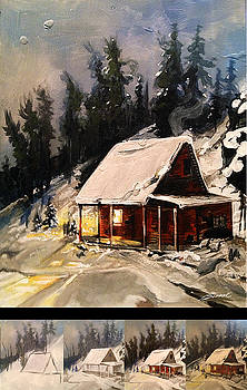 Snow Cabin by Robert Busse