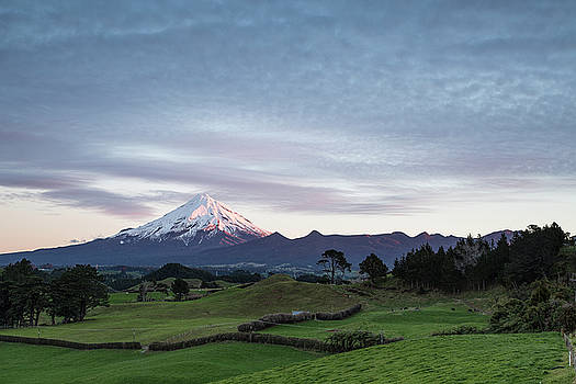 Snow Capped Mount Taranaki by Russ Dixon