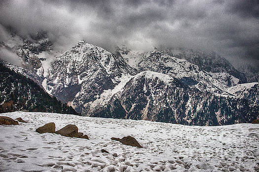 Snow Capped Triund Hill by Yew Kwang