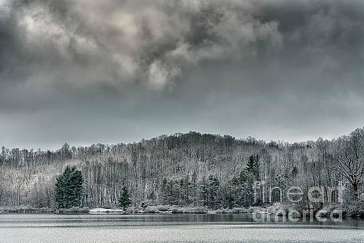 Snow Clouds over Lake by Thomas R Fletcher