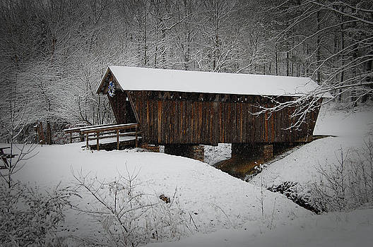 Snow Covered Bridge by Beverly Hammond