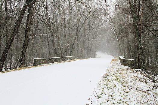 Snow covered bridge by Troy  Skebo