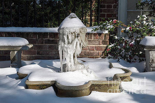 Dale Powell - Snow Covered Fountain