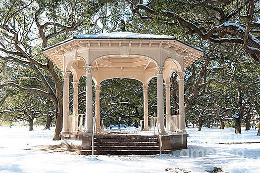 Dale Powell - Snow Covered Gazebo