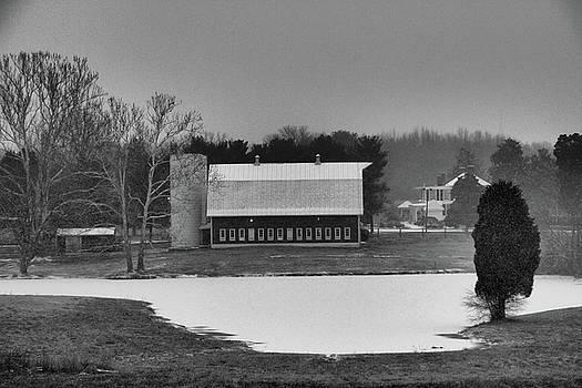 Snow Covered Pond by Troy  Skebo