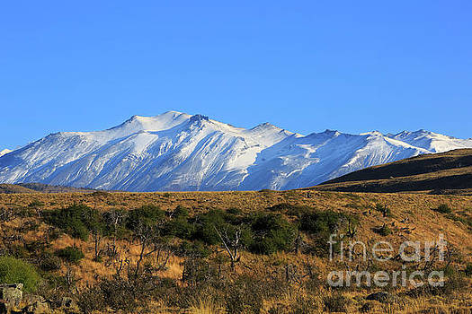 Snow covered Sierra Masle in Torres del Paine National Park Chile by Louise Heusinkveld