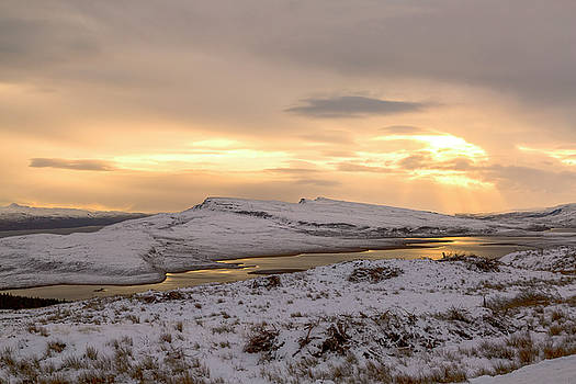 Snow Covered Trotternish Ridge Toward Sundown by Derek Beattie