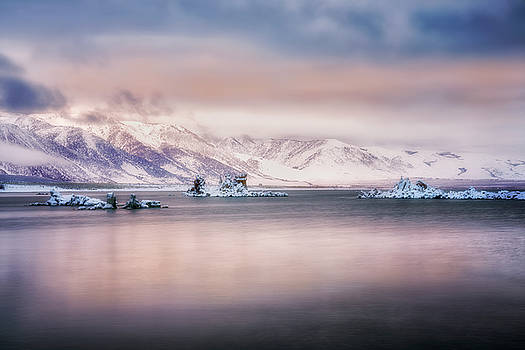 Snow Covered Tufas  by Nicki Frates
