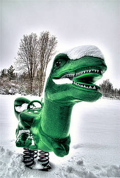 Snow Dino by Tom Melo