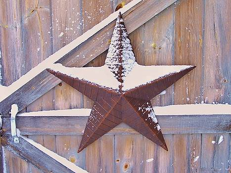 Snow Dusted Barn Star by Lisa Gilliam