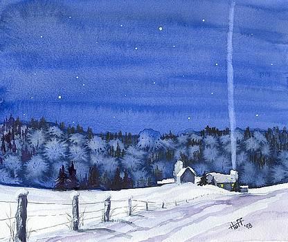 Snow in Moonlight by Denise   Hoff