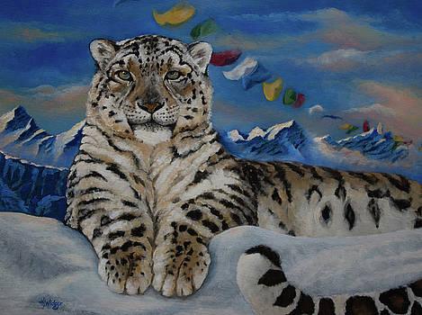 Snow Leopard Azeo by Katy Widger