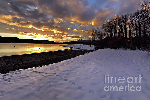 Snow on Beach by Victor K