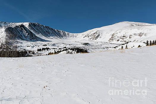 Steve Krull - Snow on  Mount Elbert Colorado in Winter
