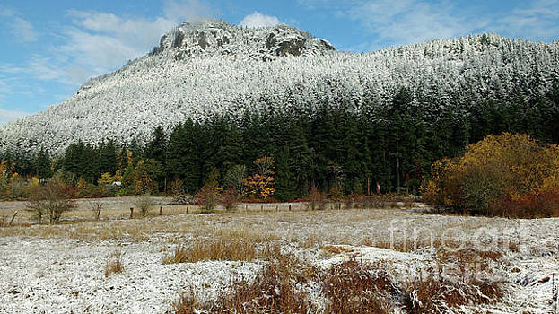 Snow on Mt. Maxwell by Mark Alan Perry