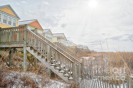 Snow On The Beach 6 by Kathy Baccari