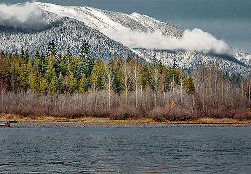 Snow over the Clark Fork by Albert Seger
