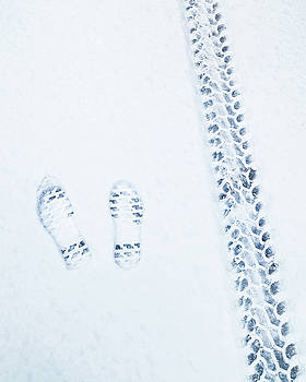 Snow prints by Chris M