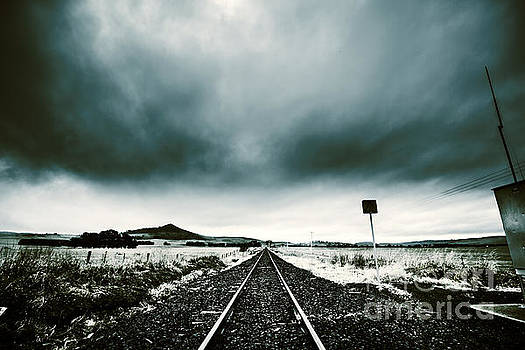 Snow railway by Jorgo Photography - Wall Art Gallery
