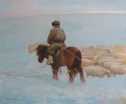 Snow Steppe by Ji-qun Chen