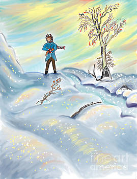 Snow Tang - Story Illustration 3 - age 12 by Dawn Senior-Trask