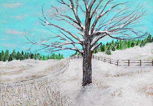 Snow Tree by Dick Bourgault