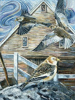 Snowbird on the Ashbank by Paula Blasius McHugh