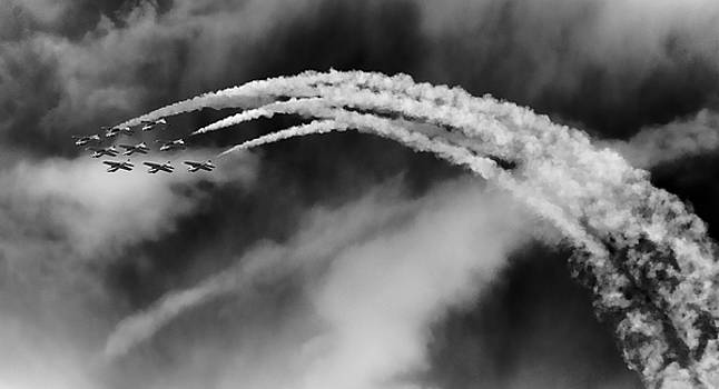 Snowbirds in the Clouds by Richard Espenant