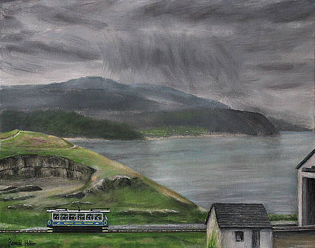 Snowdonia from the Great Orme - Llandudno Wales by Ronald Haber