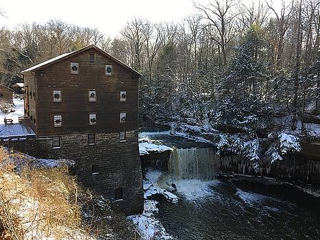 Snowfall at the Mill by Heidi Moss