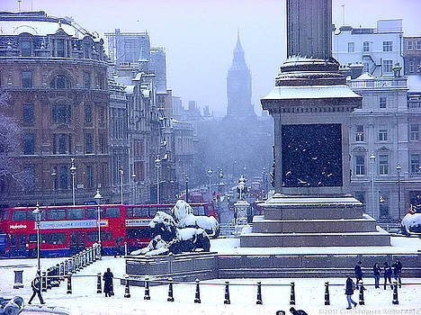 Snowfall Invades London by Christopher Robin