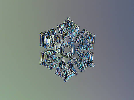 Snowflake photo - Silver foil by Alexey Kljatov