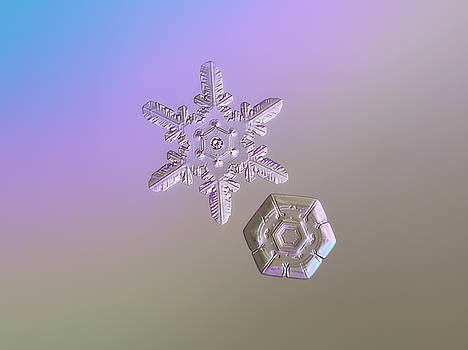 Snowflake photo - Two hearts by Alexey Kljatov