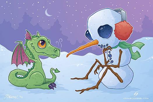 Snowman and Dragon by John Schwegel
