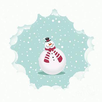 Sophie McAulay - Snowman christmas card