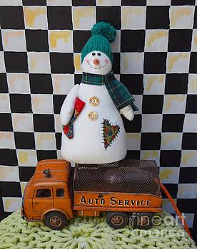 Snowman mechanic by Inessa Williams