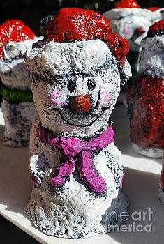 Snowman Pink by Vickie Scarlett-Fisher