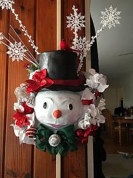 Snowman Wreath by Michelle Thomann-Ramirez