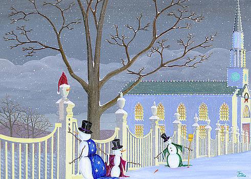 Snowmen In Vermont by Thomas Griffin
