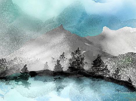 Snowy Alpine Vista by Dick Bourgault