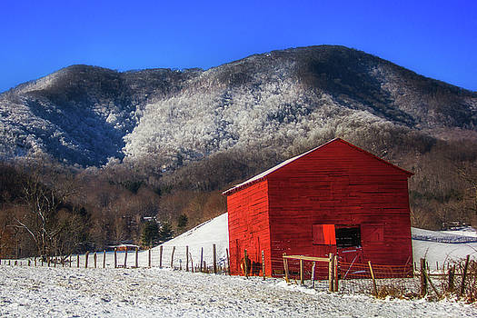 Snowy Barn by Blue Ridge Mountain Life