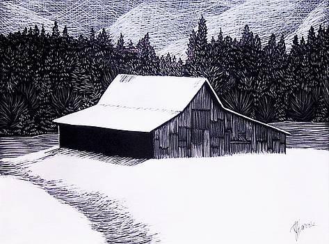 Jim Harris - Snowy Barn