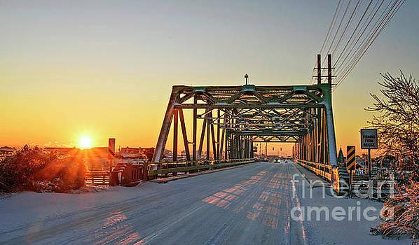 Snowy Bridge by DJA Images