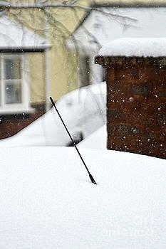 Snowy Car Aerial by Andy Thompson