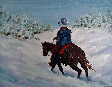 Snowy Cowboy by Joan Mace