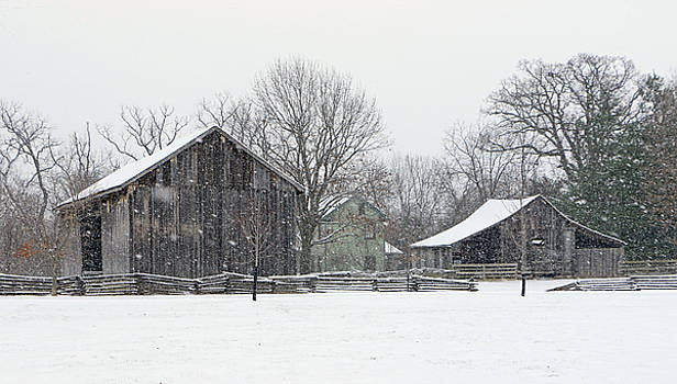 Snowy Day at the Farm by Christopher McKenzie