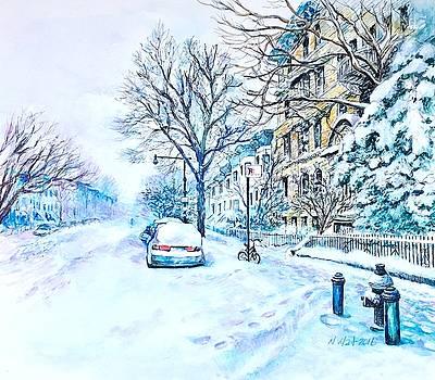 Nancy Wait - Snowy Day Brooklyn