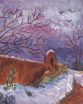 Snowy Day by Carolene Of Taos