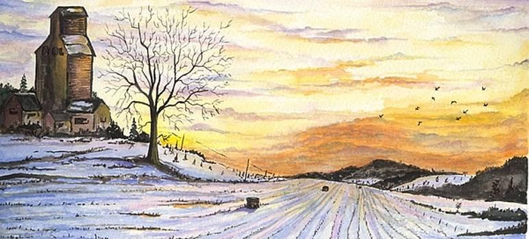 Snowy Farm by Darren Cannell