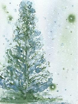Snowy Fir Tree by Dawn Derman